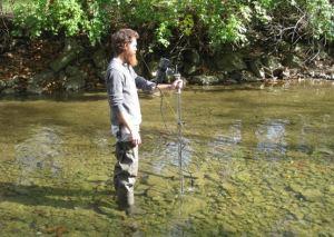 Discharge measurement on Holes Creek near Kettering