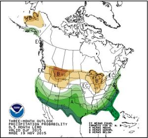 2016 3 month precipitation outlook